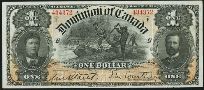 Dominion of Canada 1898 $1.00 Bill