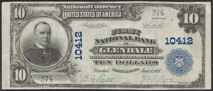 First National Bank of Tropico National Currency dollar bill
