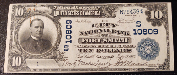 City National Bank of Fort Smith National Currency dollar bill