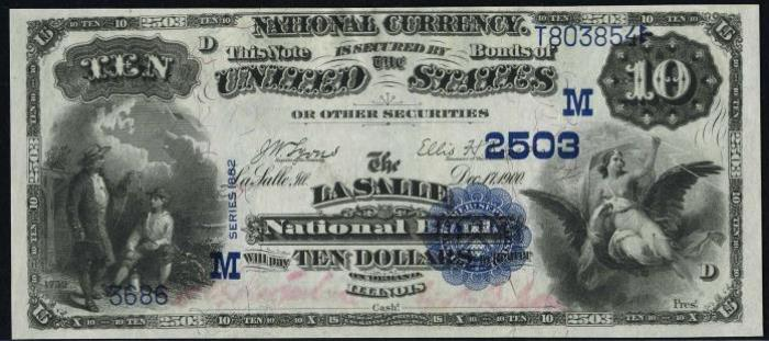 LaSalle National Bank, LaSalle National Currency dollar bill