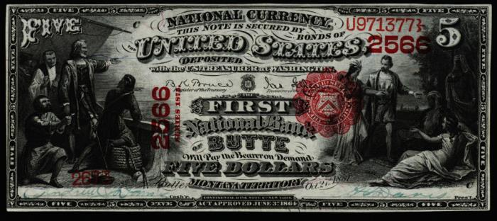 First National Bank of Butte National Currency dollar bill