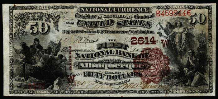 First National Bank of Albuquerque National Currency dollar bill
