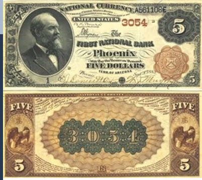 First National Bank of Phoenix National Currency dollar bill