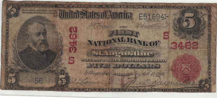 First National Bank of Saint Augustine National Currency dollar bill