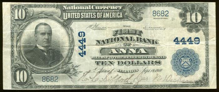 First National Bank of Anna National Currency dollar bill