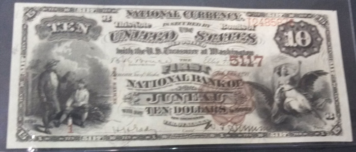 First National Bank of Juneau National Currency dollar bill
