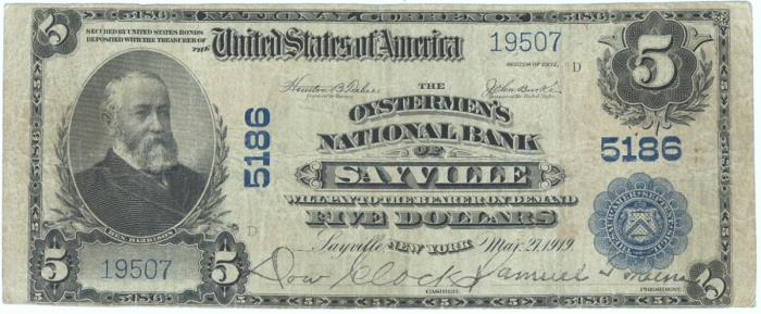 First National Bank, Genoa National Currency dollar bill
