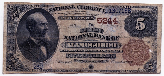 First National Bank of Alamogordo National Currency dollar bill