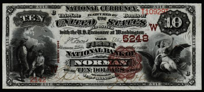 First National Bank of Norman National Currency dollar bill