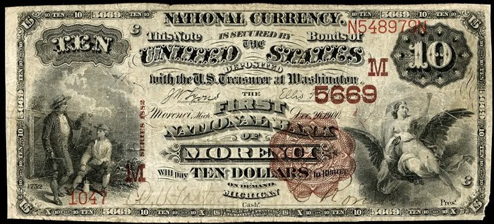 First National Bank of Morenci National Currency dollar bill