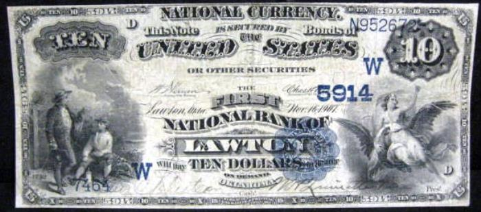 First National Bank of Lawton National Currency dollar bill