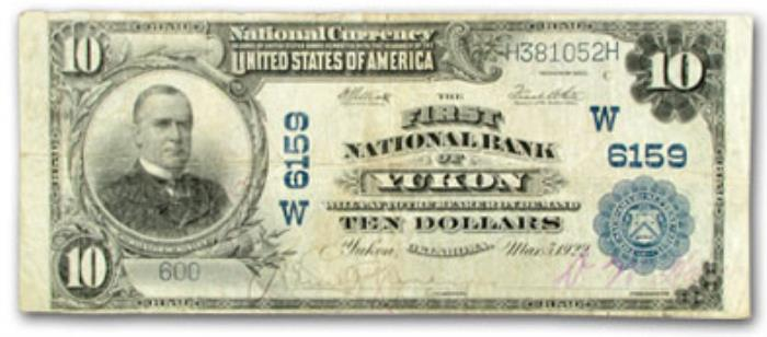 First National Bank of Yukon National Currency dollar bill
