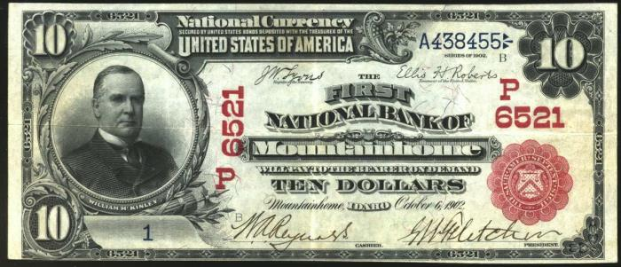 First National Bank of Mountainhome National Currency dollar bill