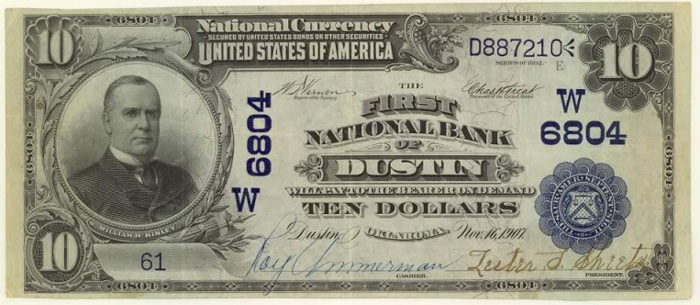 First National Bank of Spokogee National Currency dollar bill