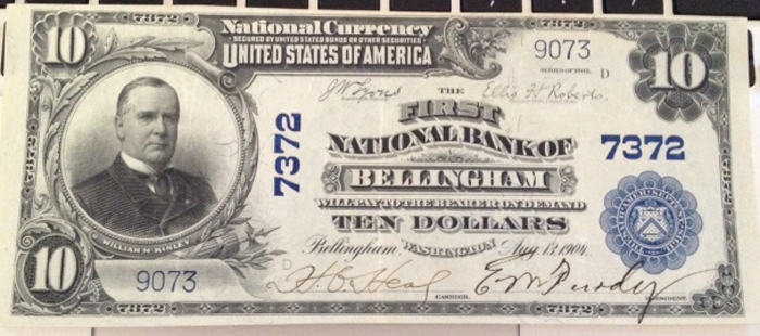 First National Bank of Bellingham National Currency dollar bill
