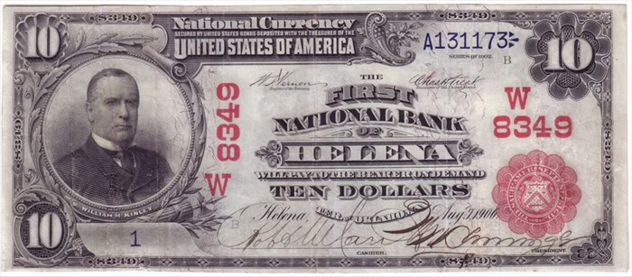 First National Bank of Helena National Currency dollar bill