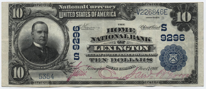 Home National Bank of Lexington National Currency dollar bill
