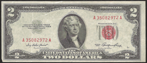 Old Money - 1953 $2.00 Legal Tender