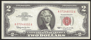 Old Money - 1963 $2.00 Legal Tender