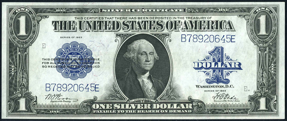 Large Size Currency Series 1923 Silver Certificate
