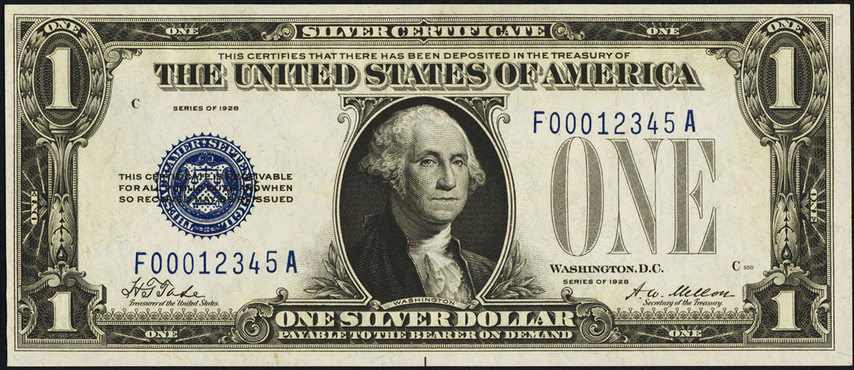 Small Size Currency Series 1928 Silver Certificate