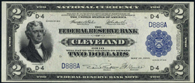 Federal Reserve Bank Note Series 1918 $2.00 Cleveland