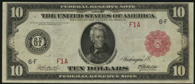 Federal Reserve Note Series 1914 $10.00 Red Seal