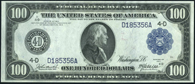 Federal Reserve Note Series 1914 $100.00 Blue Seal