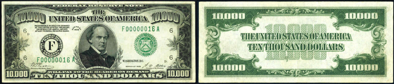 1928 $10000.00 Atlanta, GA Federal Reserve Note.