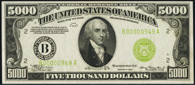 Federal Reserve Note Series 1934 $5000.00 New York