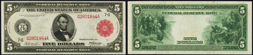 1914 Federal Reserve Note Red Seal