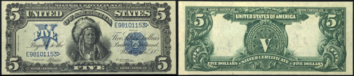 1899 $5.00 Five Dollar Bill Silver Certificate