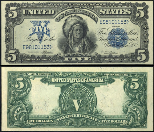 1899 Five Dollar Bill Silver Certificate Value and Information