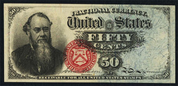 1875 Fourth Issue 50 cent Fractional Currency