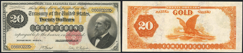 Series 1882 $20 Gold Certificate