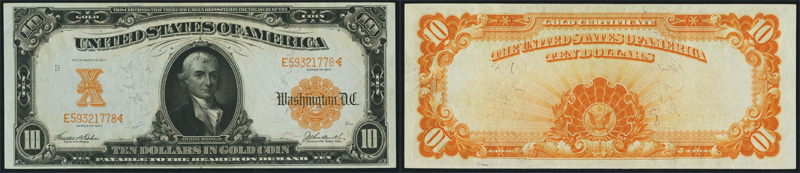 Series 1907 $10 Gold Certificate