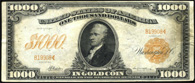 Gold Certificate Series 1907 $1000.00