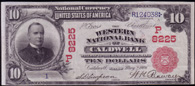 National Currency Series 1902 Red Seal Western National Bank Caldwell Idaho Charter 8255