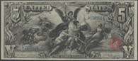 1896 $5.00 Dollar Bill Silver Certificate Educational Series