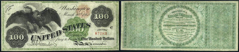 Series 1862 $100 Legal Tender
