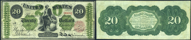 Series 1862 $20 Legal Tender