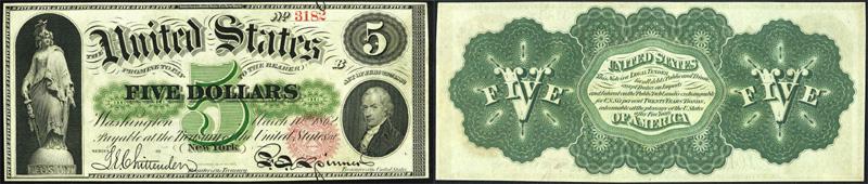 Series 1862 $5 Legal Tender