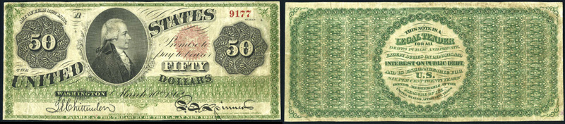 Series 1862 $50 Legal Tender