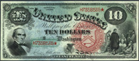 Legal Tender Series 1869 $10.00 Jackass Note