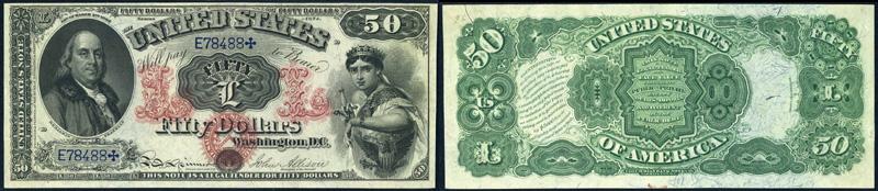 Series 1874 $50 Legal Tender