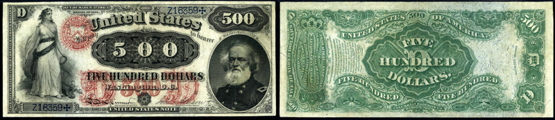 Series 1874 $500 Legal Tender