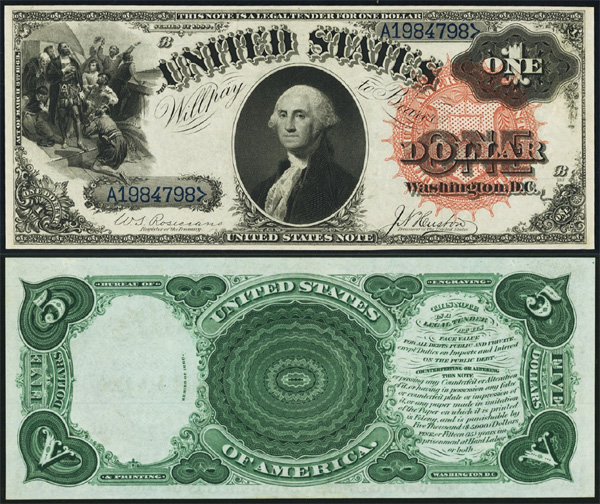 Series 1880 $1 Legal Tender Bill