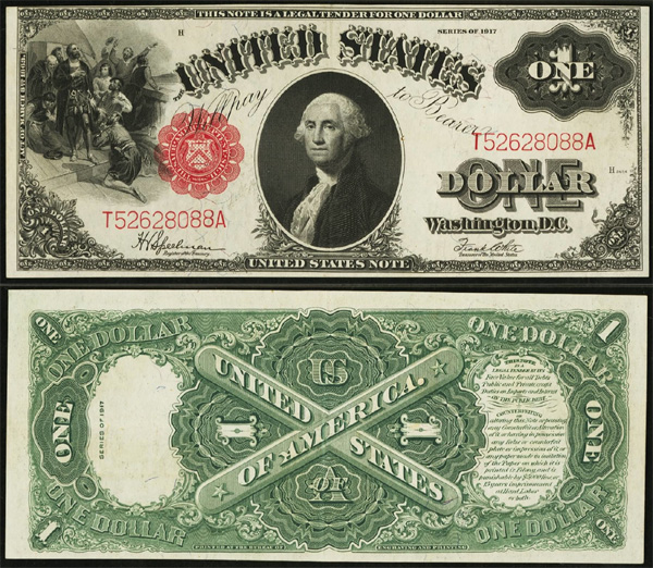 Series 1917 $1 Legal Tender Red Seal