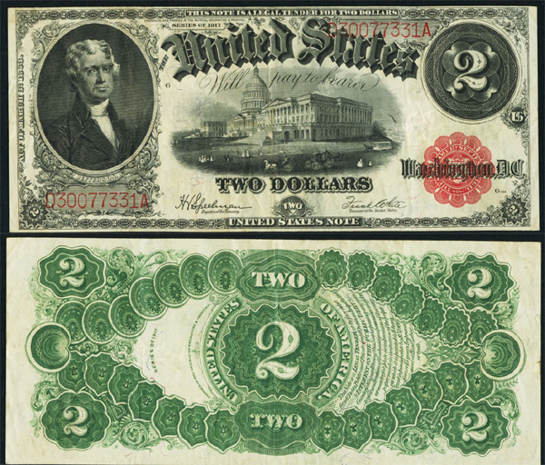 Series 1917 $2 Legal Tender note