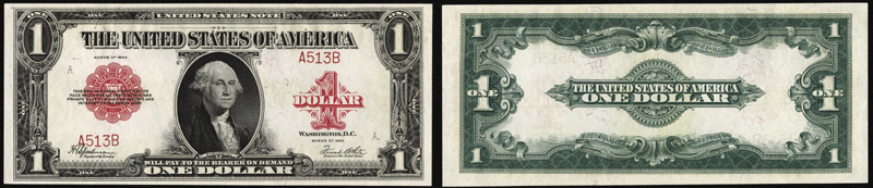 Series 1923 $1 Legal Tender Red Seal